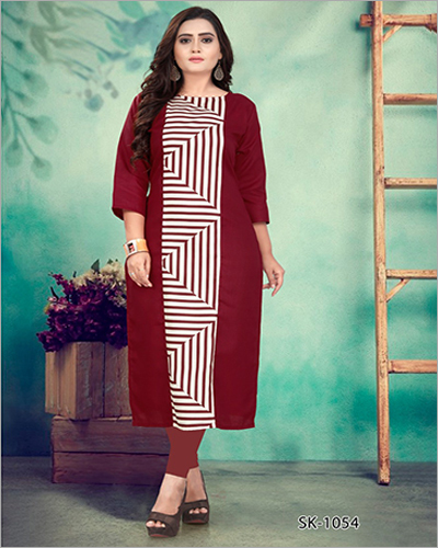 Ladies Casual Printed Cotton Kurti