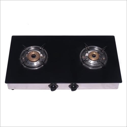 2 Burner Black Glass Top