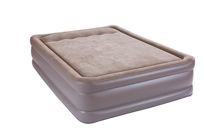 Memory Tape Pillow Double deck Airbed, built -in electric pump, Bed Height 18