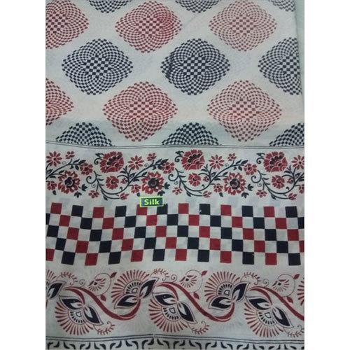 Kalamkari Lenin Silk Fabric Saree