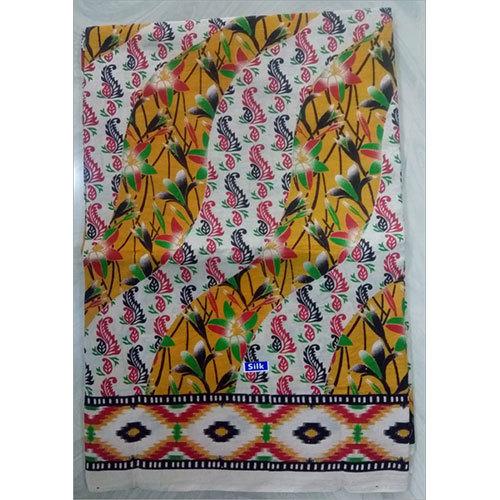 Kalamkari Lenin Silk Fabric