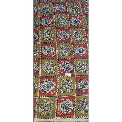 Kalamkari Rayon Fabric Saree