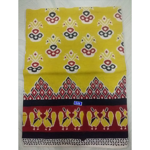 Kalamkari Yellow Printed Saree