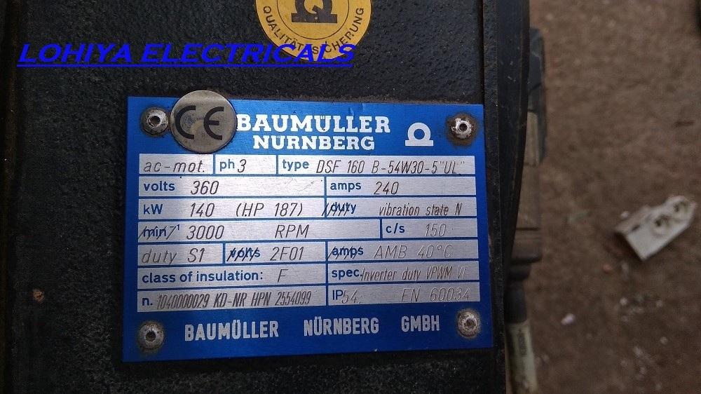 BAUMULLER SERVO MOTOR DSF 160 B-54W30-5
