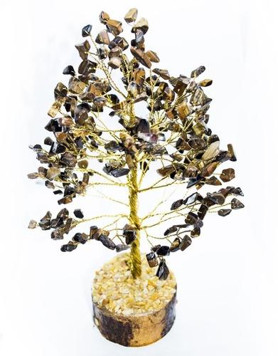 AGATE TIGER EYE STONE TREE