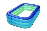 Inflatable Pool, Sable Swimming Pool for Baby, Kiddie, Kids, Adult, Infant, Toddler, 75″ X 40″ X 21″, for Ages 3+