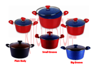 Ceramic Coated Taper Casseroles - Classic
