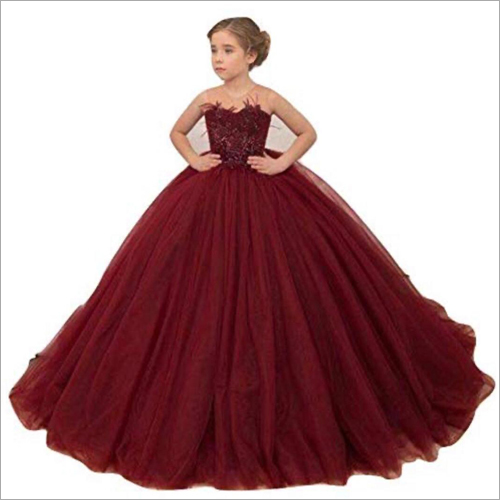 Girls Off Shoulder Ball Gown