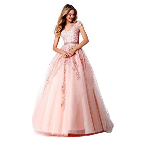 Ladies Party Wear Ball Gown
