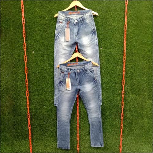 Mens Sky Blue Denim Jeans