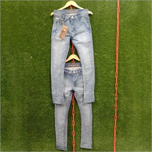 Mens Sky Blue Slim Fit Denim Jeans
