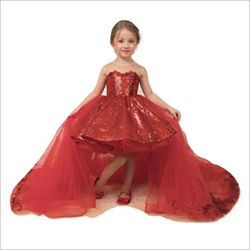 Girls Net Detachable Dress