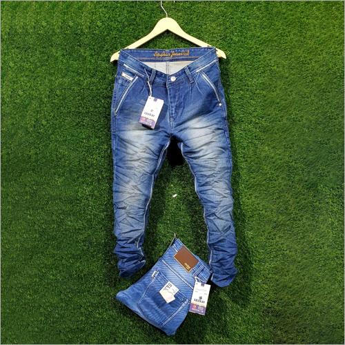 Mens Fancy Blue Denim Jeans