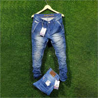 Mens Fancy Blue Denim Jeans