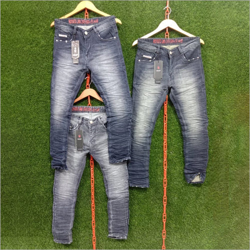 Mens Fancy Faded Jeans