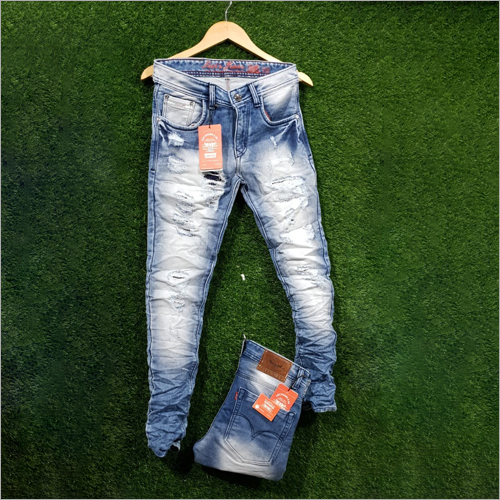Mens Ripped Regular Fit Jeans