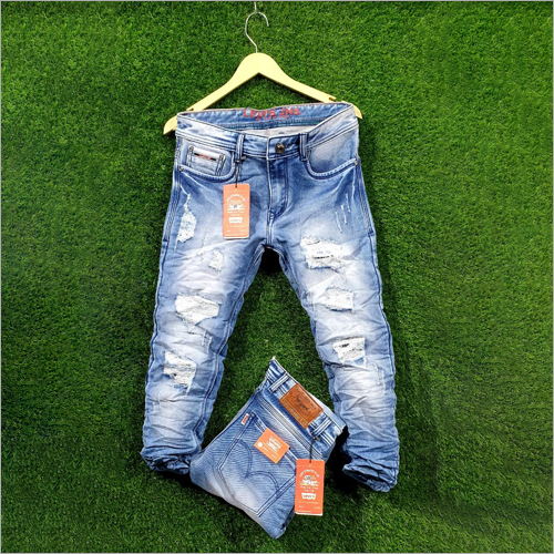 Mens Ripped Casual Jeans