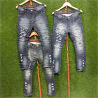 Mens Fancy Ripped Casual Jeans