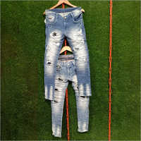 Mens Fancy Damage Jeans