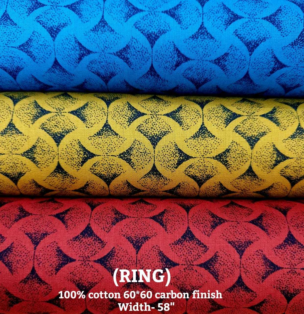 Ring 100% cotton 60*60 carbon finish