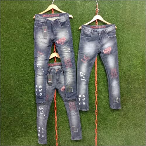 Mens Casual Printed Jeans