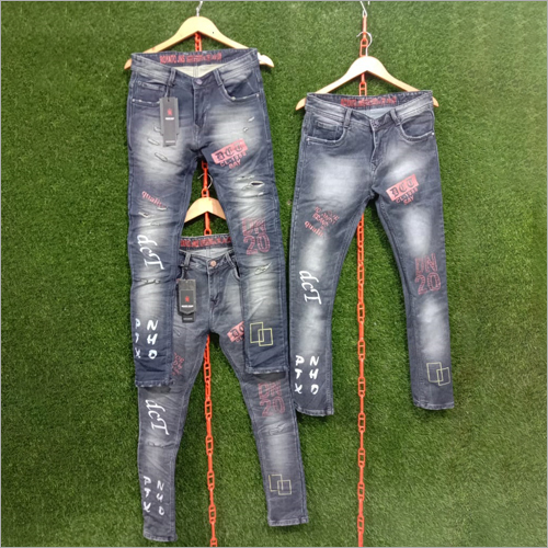 Mens Casual Printed Jeans