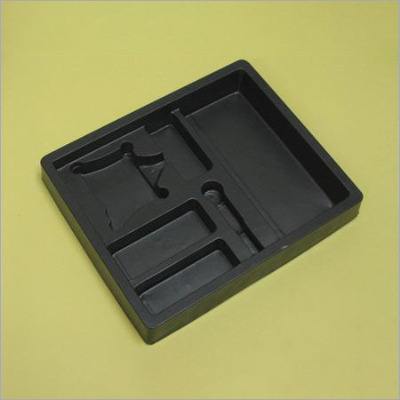 Vacuum Formed Black HIPS Tray