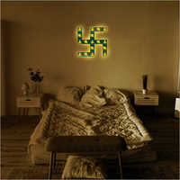 Bedroom Decor Swastik Wall Frame Lamp