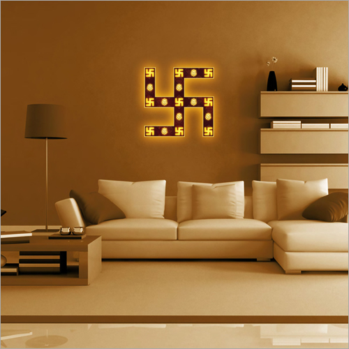 Electrical Designer Swastik Wall Frame Lamp