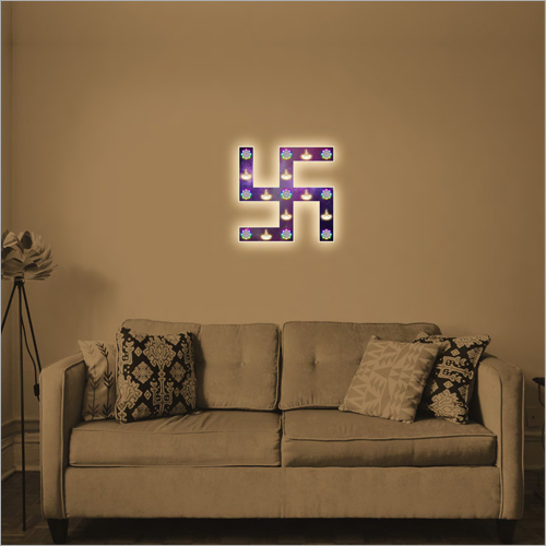 Living Room Decor Swastik Wall Frame Lamp