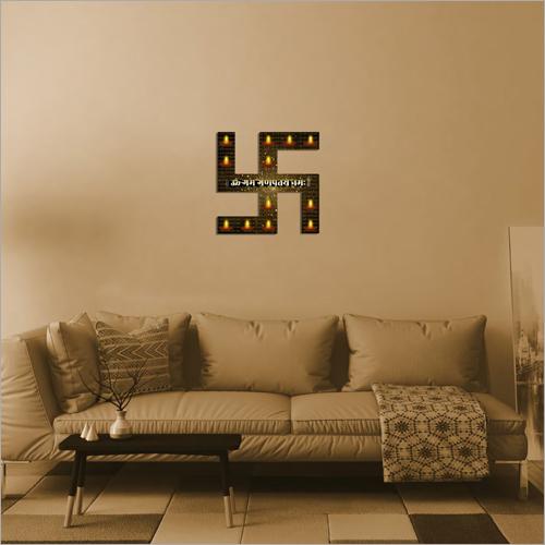 LED Swastik Wall Frame Lamp
