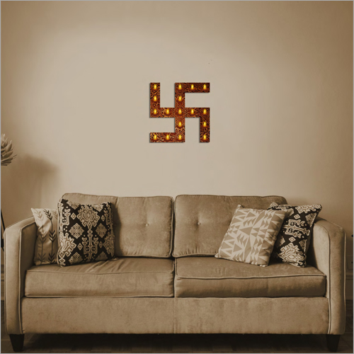 Electric Swastik Wall Frame Lamp