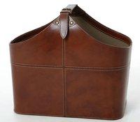 Leather basket