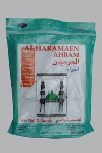 White Cotton Dua Fabric Hajj Towel
