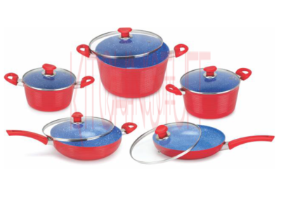 Cookware Set -10 pcs. Small Groove