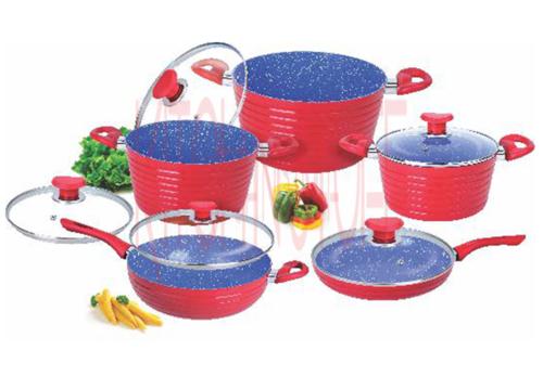 Cookware Set -10 pcs. Big  Groove