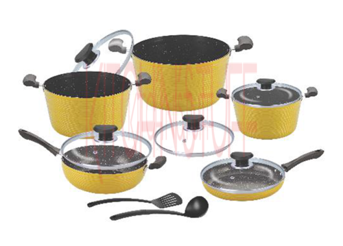 Cookware Set - 12 Pcs. Dark Rock