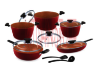 Cookware Set - 12 Pcs. Almond