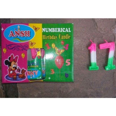 Colored Number Candle Size: Available In Differenet Size