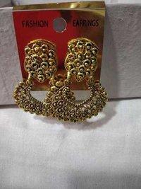 Flower copper  earrings