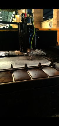 CNC gantry type drilling machine