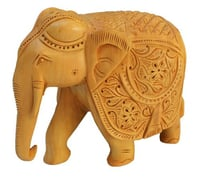 Wooden Elephant Carving