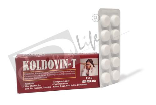 Paracetamol, Phenylephrine Hydrochloride & Chlorpheniramine Maleate Tablets