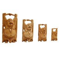 Wooden Happy Men set of4 pic in Fine Work Handicraft Art by Apnoghar