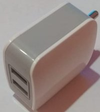 Mobile Charger 3A Double USB Grey+White