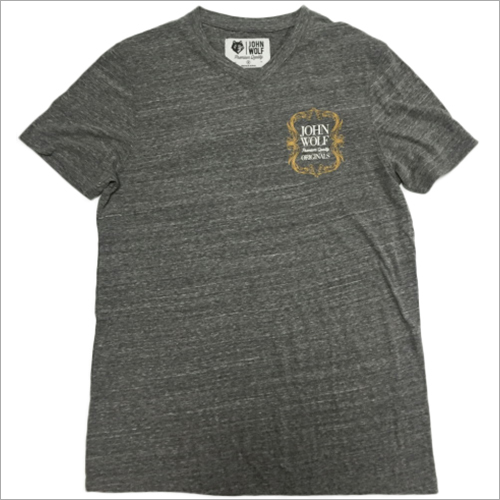 Unisex Grey Printed T-Shirts