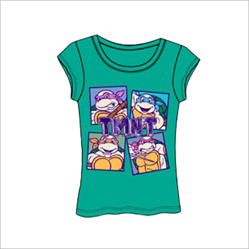 Ladies Jade Green Printed T-Shirts
