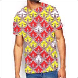 Mens Jade Half Sleeve Printed T-Shirt