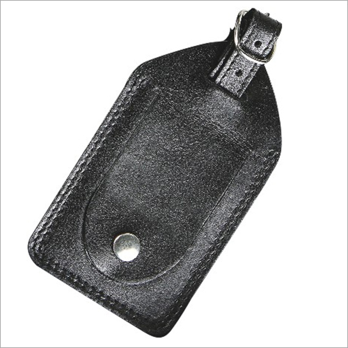 Buff DDDM with Edge Inking & False Stitch Luggage Tag