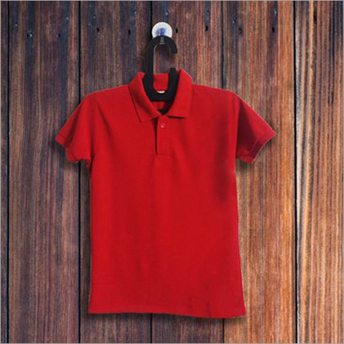 Mens Red Collar T Shirt